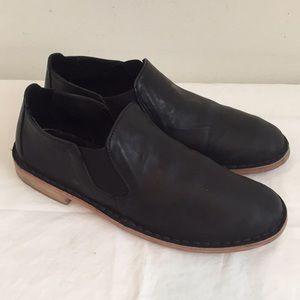 Vince Mia Leather Flat Slip-On Bootie Black 6.5